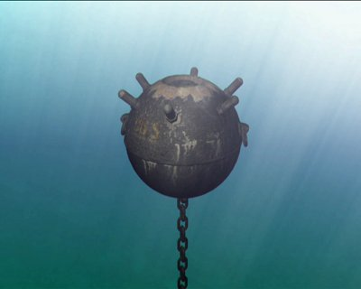 Stock-footage-sea-mine-in-the-sea-water